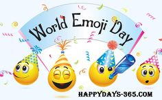 July the date that appears on the iOS version of calendar emoji, has prompted online recognition of World Emoji Day World Smile Day, World Emoji Day, Google Calendar, Hunter Douglas, Emoji Names, Krishna Statue, Emoji Love, Cake Online, Kids Corner