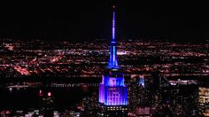 April 26, 2015: The Empire State Building honors the @yankeesbaseball' Subway Series victory with a celebratory light show: https://youtu.be/Cr55crpPqHE