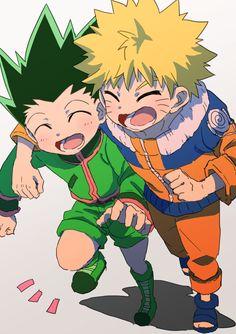 Gon Freecs and Naruto Hunter x Hunter