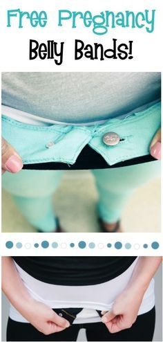 2 FREE Pregnancy Belly Bands! {just pay s/h} ~ Skip the new wardrobe when you're pregnant and keep wearing your cute jeans!! #fashion #clothes #thefrugalgirls