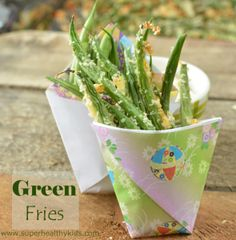 My kids love finger food, so these Green Fries are perfect! Toddler Finger Food | superhealthykids.com