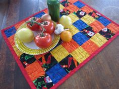 Do you like Hot Peppers or Hot Sauce?  NOT me -- but I love quilting with the fabric -- so colorful!