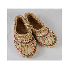 SALE Natural Woven Straw Slippers // Handmade by waywardcollection