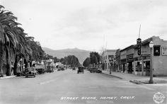 Florida Ave. street scene in the 1920's  Hemet California