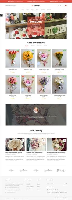 ByHands is a wonderful 3in1 responsive HTML #bootstrap template for #flower shop #eCommerce websites download now➩  https://themeforest.net/item/byhands-flower-store-html-template/19296235?ref=Datasata