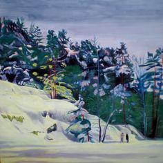 Hilja Roivainen, Tarvaspää II, 150 x 150, Oil and wax on canvas
