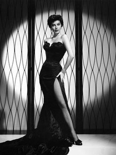 ava gardner Female off shoulder seductive flirt flirty pose hand hands on hip hips stocking stockings high heels film noir glamour era dress Hollywood Vintage, Hollywood Fashion, Golden Age Of Hollywood, Old Hollywood Dress, Old Hollywood Actresses, 50s Actresses, Old Hollywood Style, Hollywood Icons, Glamour Vintage