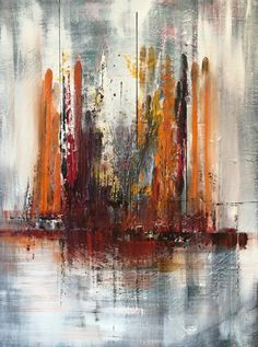Abstract 131, by Mo Tuncay, Netherlands, 2015  Painting, Acrylic, Unframed Size 80 x 60 cm