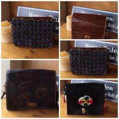 Bolsos piel con cadena. Piezas únicas Wallet, Fashion, Chains, The Creation, Fur, Totes, Moda, La Mode, Handmade Purses