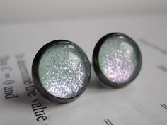 Atom  Earring studs  science jewelry  science by DarkMatterJewelry, $11.00