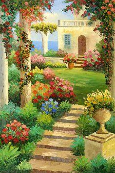 El jardín en la flor flores parque