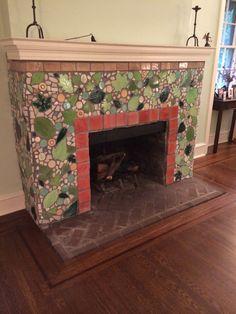 Mosaic Fireplace-Jessica Gorlin Liddell