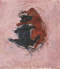 Susan Rothenberg, Dos gossos. 1993-1994. Oli sobre tela, 61 x 53 cm