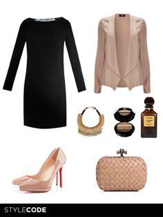 Look de noche en nude y negro http://www.marie-claire.es/moda/consejos-moda/articulo/look-de-noche-en-nude-y-negro