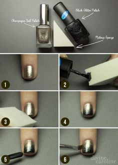 Sparkly Ombre Manicure Tutorial