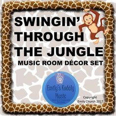 Check out this super fun Jungle Themed Music Room Decoration Set Dancing Animals will get your students moving and having fun while learning this year! Get this set now! Price will go up as more is added throughout the summer Already Included: SOLFEGE POSTERS- Diatonic Solfege do-re-mi-fa-so-la-ti-do'