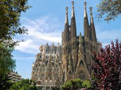 One of the UNESCO World Heritage Site Works of Gaudí, Sagrada Familia Cathedral, Barcelona, Spain ***********************************************************.