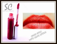 Candy Apple Red Matte Liquid Lipstick Non by SkinCandyCosmetics