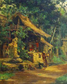 Dullah (1919 - 1996) - Warung di Desa Bali