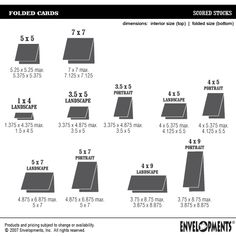 card sizes and how many per sheet | Card Making-measurements ...