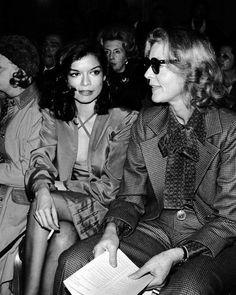 Bianca Jagger Lauren Bacall YSL Show 1974