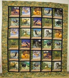 Magnificent Wildlife - I would SOOOO love to do a quilt like this!
