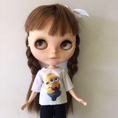 Minion t shirt for blythe or pullip doll by MotaDeAlgodon on Etsy