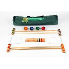 Junior croquet is the perfect game to play in the garden on a summer evening. This set includes 9 Hoops, 4 colour balls, 4 x mallets, 4 stakes, instructions and a canvas carry bag. Outdoor Toys, Outdoor Games, Outdoor Fun, Most Popular Kids Toys, Garden Games, Classic Garden, Lawn Games, Perfect Game, Birthday Party Games