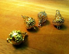 1pc Double Hanging Drops Connection Bright Gold Pendants