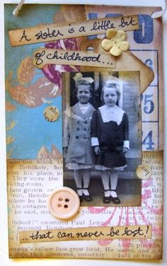 Sweet Sisters Bingo Card Collage by DuctTapeAndDenim