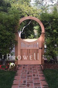 custom wood arbor with Wood Gate - All For Garden