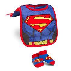 ThinkGeek :: Superhero Infant Bib and Booties Sets