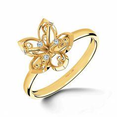 Five-petal Floral Ring