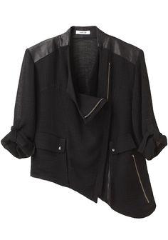 Helmut Lang Asymmetric Zip Jacket, US$495, La Garconne.