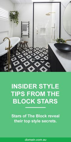 Stars of The Block reveal their style tips and secrets - Bathroom Ideas Laundry In Bathroom, Bathroom Renos, Bathroom Layout, Bathroom Ideas, Master Bathroom, Bathtub Ideas, Remodel Bathroom, Budget Bathroom, Bathroom Styling