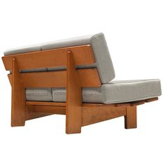 For Sale on - Two-seat sofa, oak and fabric, Europe, Modest and simplistic sofa bench made in the This sofa is made of oak, the sofa is build up with two Sofa Bench, Wood Sofa, Bedroom Furniture Sets, Design Furniture, Bedroom Sets, Chair Design, Modern Furniture, Sofa Upholstery, Fabric Sofa