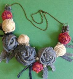 Bushbabies Craftworks : denim rose collarette