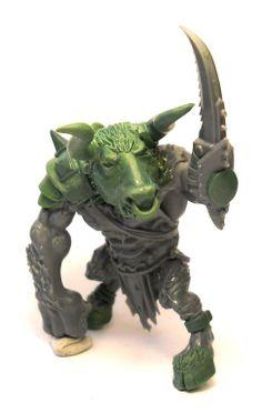Bloodbowl Minotaur converted from a Warhammer Rat Ogre miniature