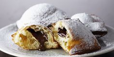 Look at this recipe - Truffle-Centred Beignets - from Anna Olson and other tasty dishes on Food Network. Food Network Uk, Food Network Canada, Food Network Recipes, Beignet Recipe, Beignets, Best Chocolate, Chocolate Desserts, Biscotti, Gastronomia