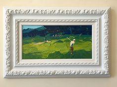 Tiburon Golf Club Öl auf Leinwand grüne Landschaft Golf Kunst Sport Golf Decor Golf Geschenk für ihn für Ehemann für beste Freundin für Männer für Papa