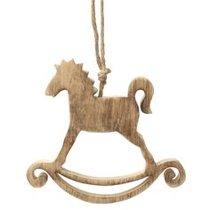 Hanging Wooden Rocking Horse