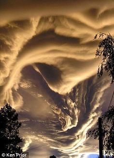 The strange cloud formations can be found all over the world. And while they are a bit weird and sometimes scary and foreboding, these clouds remain beautiful. Nature's sky is painted beautifully by these brush strokes of water vapor…and magic. All Nature, Science And Nature, Amazing Nature, Science Daily, Storm Clouds, Sky And Clouds, Beautiful Sky, Beautiful World, Cool Pictures
