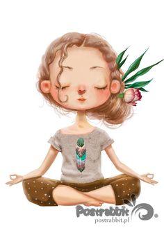 Illustration about Cute cartoon girl in yoga lotus pose. Illustration of curles, human, drawn - 76525749 Yoga Meditation, Namaste Yoga, Namaste Art, Yoga Girls, Yoga For Kids, Yoga Inspiration, Yoga Kunst, Yoga Cartoon, Creation Image