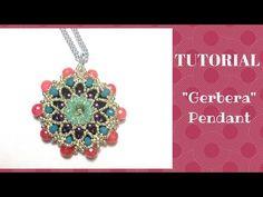 "Tutorial perline: ciondolo ""Gerbera"" | beading tutorial: ""Gerbera"" pendant - YouTube"
