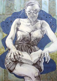Patricia Schappler, Eve, graphite and cut paper