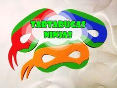Tortugas Ninja 3 en 1 (centro de mesa/deco./organizador) - YouTube