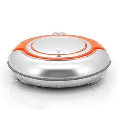 Robot-Vacuum-Cleaner-LED-Light-Cliff-Sensors-Large-Rechargeable-Battery-Orange