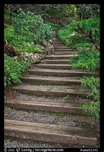 railroad tie as steps | Railroad Tie steps | Deer Lake ... on Uphill Backyard Ideas  id=47181