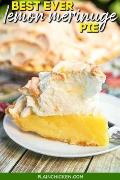 Lemon Pie Recipe, Lemon Recipes, Apple Recipes, Lemon Desserts, Great Desserts, Dessert Recipes, Brunch Recipes, Snack Recipes, Snacks