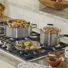 Select by Calphalon™ 8 Piece Stainless Steel Cookware Set : Target